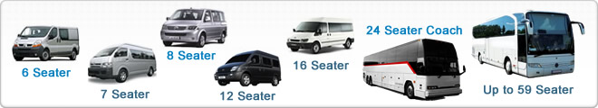 Minibus and Coach Hire Images of our available fleet